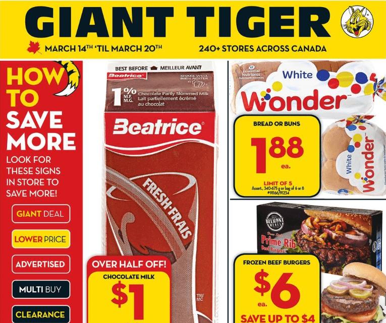 Giant Tiger Flyer Week