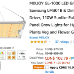 Amazon Canada Deals Save 45 On Mixjoy Gl 1000 Led Grow Light 44 On Mini Portable 4000 Lumen Video Projector With Coupon More Offers Canadian Freebies Coupons Deals Bargains Flyers Contests Canada