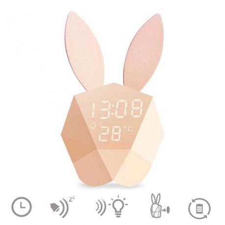 lampe led lapin aimantee avec fonction reveil integree