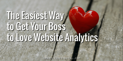 Easiest way to get your boss to fall in love with nonprofit website analytics