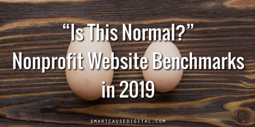 nonprofit website benchmarks 2019