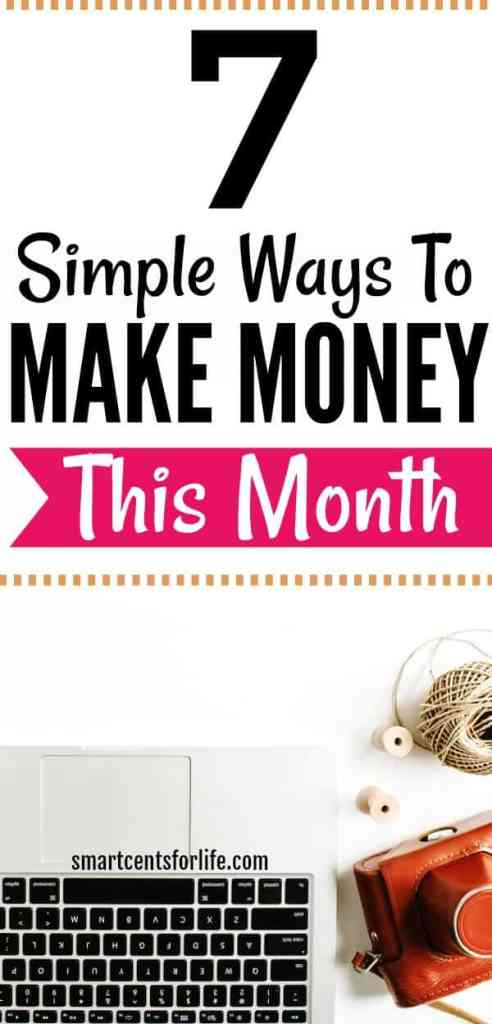 Are you looking to make money fast? These 7 money making tips and ideas will help you earn extra cash. Check out this post and find out how you could easily earn extra income every single month! Make extra income. money making ideas, how to make extra money, job for stay at home moms, college jobs work at home jobs, quick ways to make extra, make money online, side income, money challenge, make money fast, side hustles