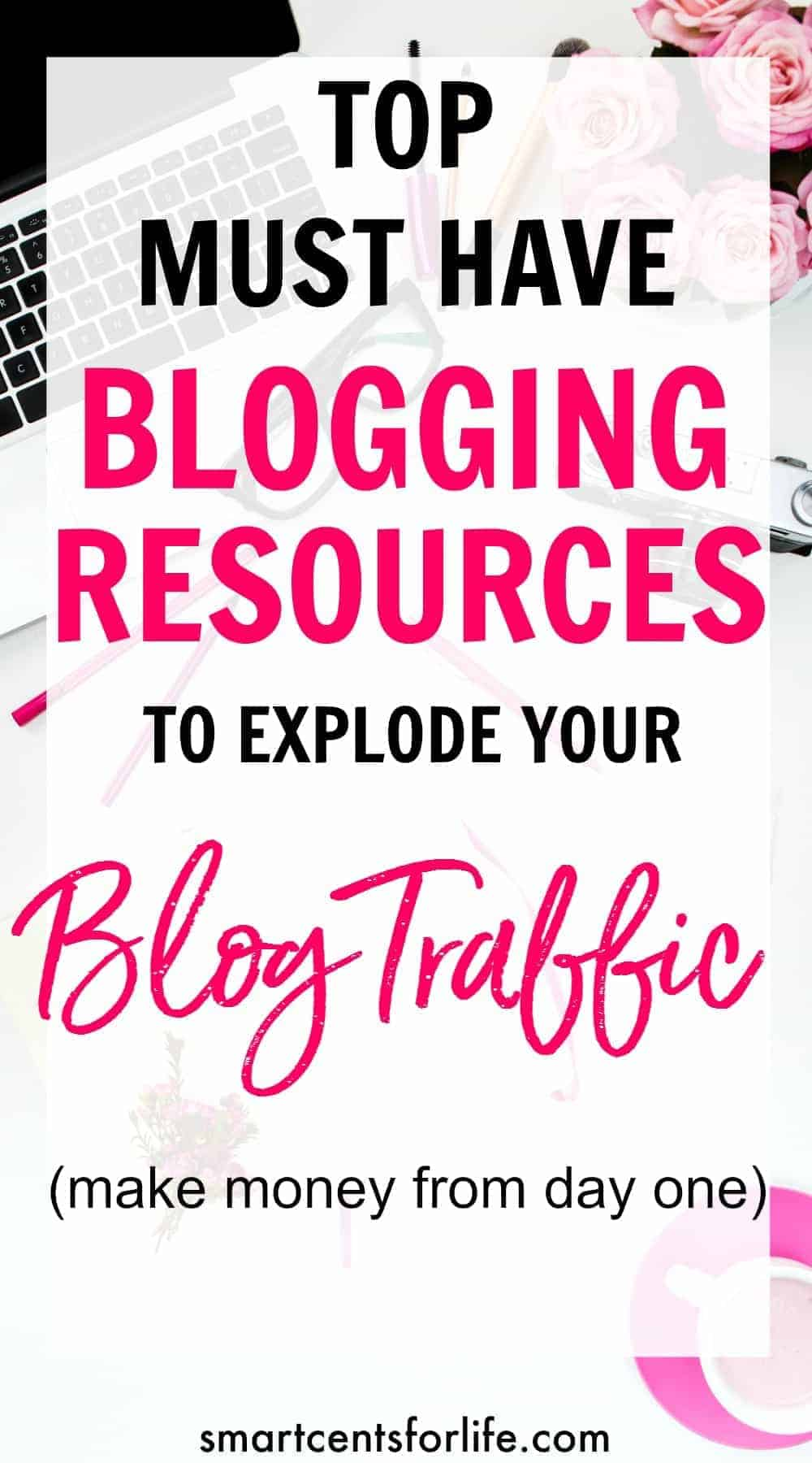 These top must have blogging resources will help you to explode your blog! Learn what blogging tools will help you to make money with your blog from day one.