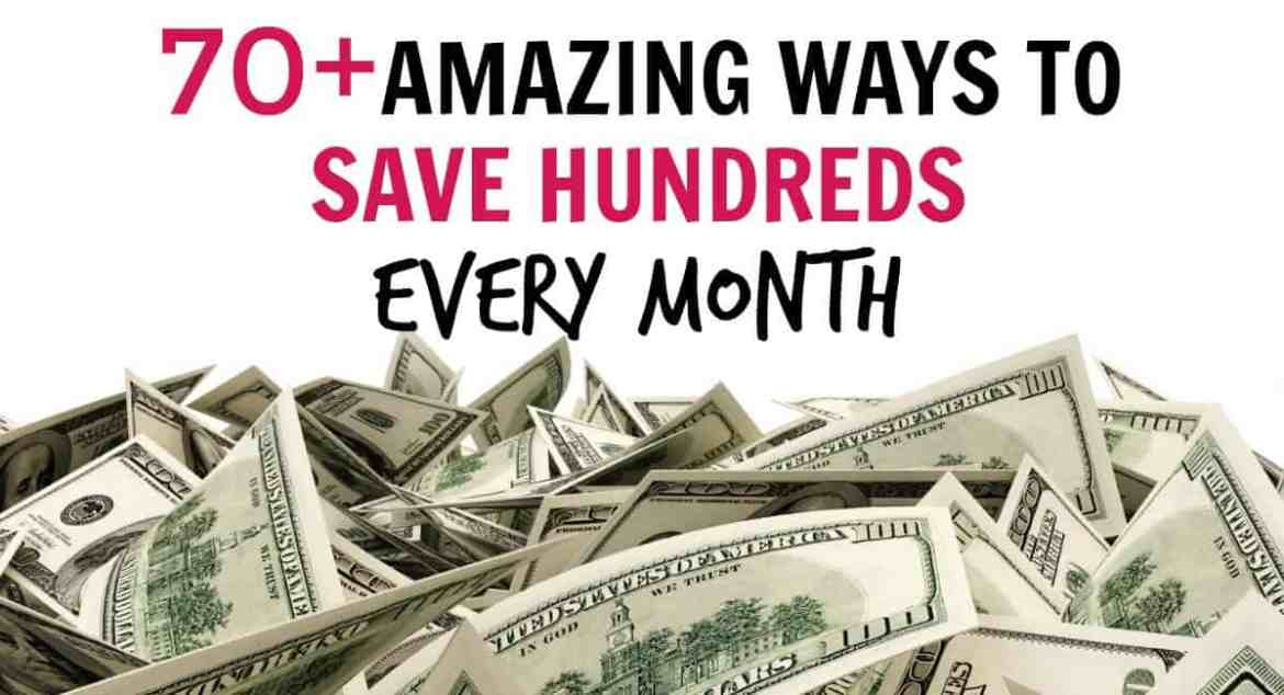 This list contains over 70 money saving tips to help you save hundreds every month. Even if you live paycheck to paycheck learn how to save money on almost everything. You can get the most out of your money even if you live on a low income. Save money each week or month and use it for a downpayment on a house, college education, Christmas presents, a dream vacation or anything you want!