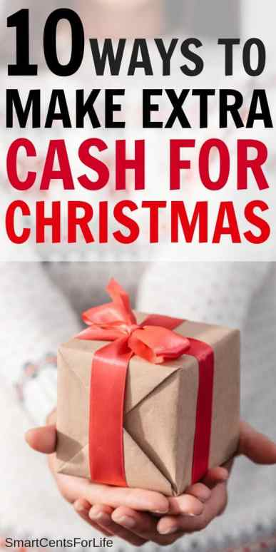 Find out 10 super easy ideas that will help you make extra cash for Christmas. Have a debt free Christmas with these money tips and ideas. Learn how to make money for Christmas. Save money for Christmas #Christmas #frugalliving #debtfree #savingmoney