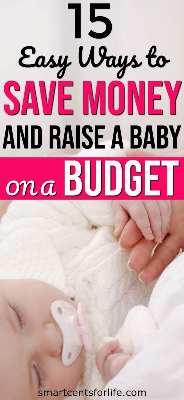 Whether you are a first-time mom or not learn how you can save money and raise a baby on a budget. Yes, having a baby on a small budget it's possible! This list will show you how you can prepare for a new baby on a tight budget. How to save money on a baby | baby on a budget | how to save money on baby items | frugal living tips