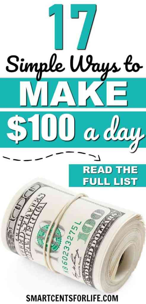 Need some ideas to make money fast? Here are 17 simple ways to make extra money fast. Different money making ideas and side hustles to make 100 dollars in a day or less! extra income, making money, work from home jobs, side jobs, work at home, make money online, make money from home