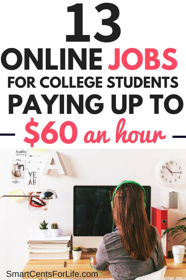 Check out these online jobs for college students with no experience that will allow you to work from home and make extra money. Legitimate part-time jobs with flexible schedule and most of them don't require previous experience. college jobs, jobs for college students, make extra money, work at home jobs, real jobs #makeextramoney #college #collegestudent #collegemoney #moneytips