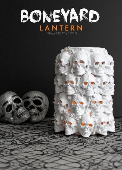 Dollar Store Decorations - Boneyard Lantern