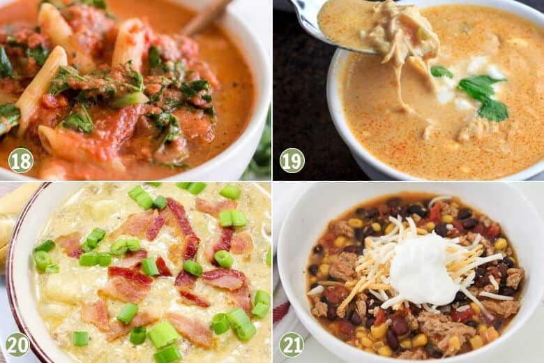 35 Cheap and Easy Crockpot Meals-Soup Recipes