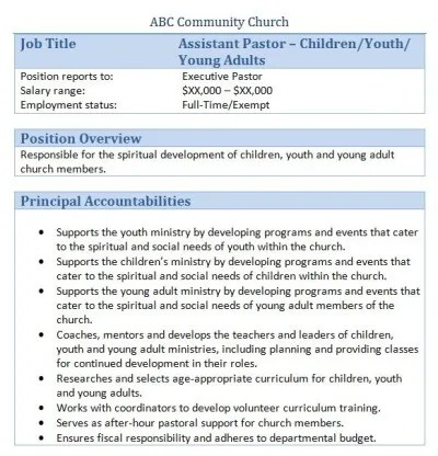 Top 8 Youth Ministry Volunteer Resume Samplesin This File You Can