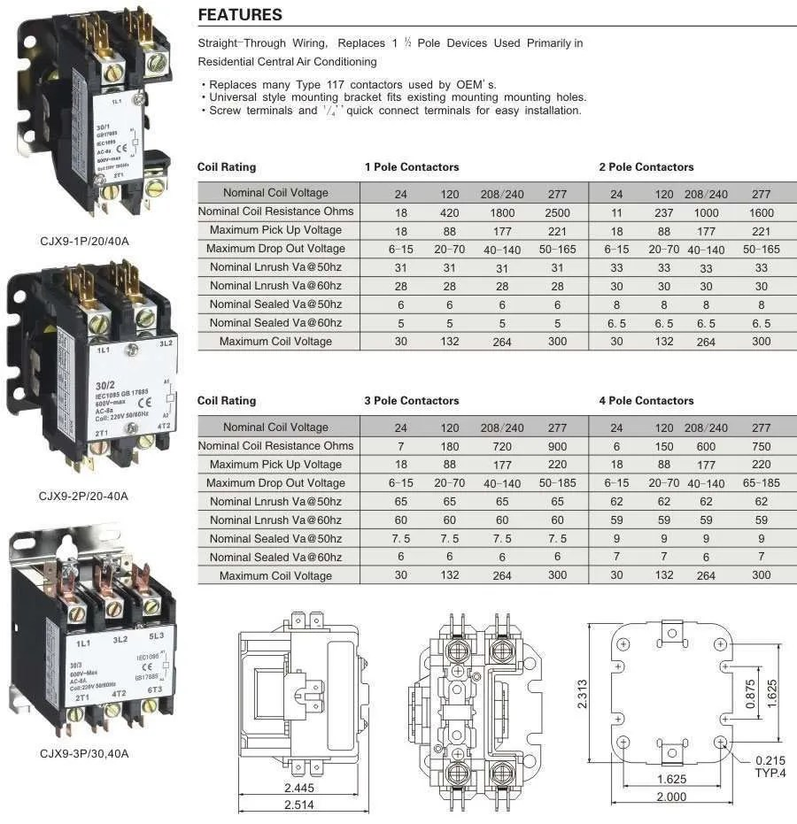 Carrier Contactor Coil Wiring Diagram