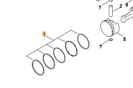 Комплект поршневых колец VIKING оригинал (00040071000)