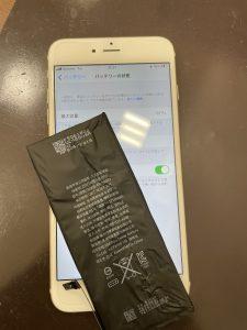 姉妹店修理速報 iPhone6sPlus バッテリー交換