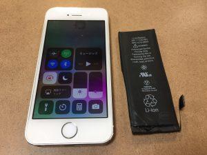 姉妹店修理 iPhone5S バッテリー交換