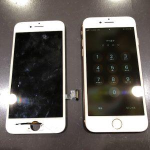 iPhone8 画面交換修理