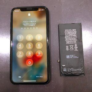 iPhoneXR バッテリー交換修理
