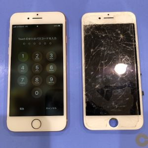 iPhone8 画面割れ交換修理