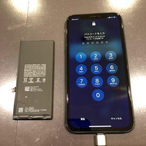 iPhone11 バッテリー交換修理