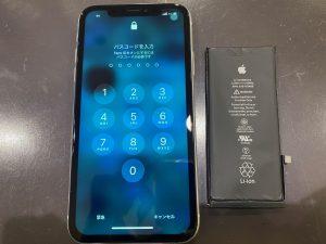 iPhoneXR バッテリー交換