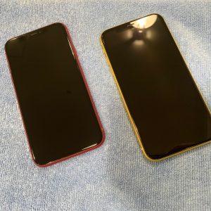 ガラスコーティングを施工したiPhoneXR
