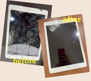 iPadフロントガラス修理