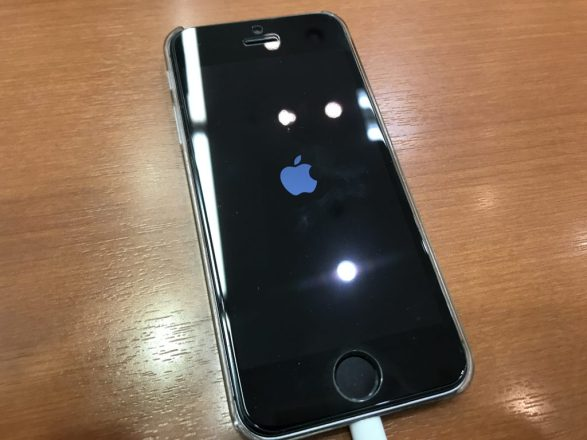 iOS13のアップデートに失敗してリンゴループになってしまったアイフォンSE、アイホンSE
