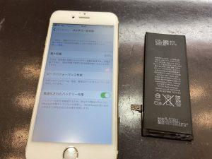 バッテリーが新品になって電池持ちが良くなったiPhone6s、アイホン6s