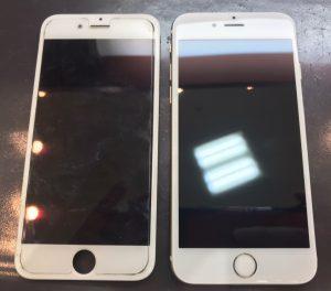 液晶表示がおかしくなってしまったiphone6の修理