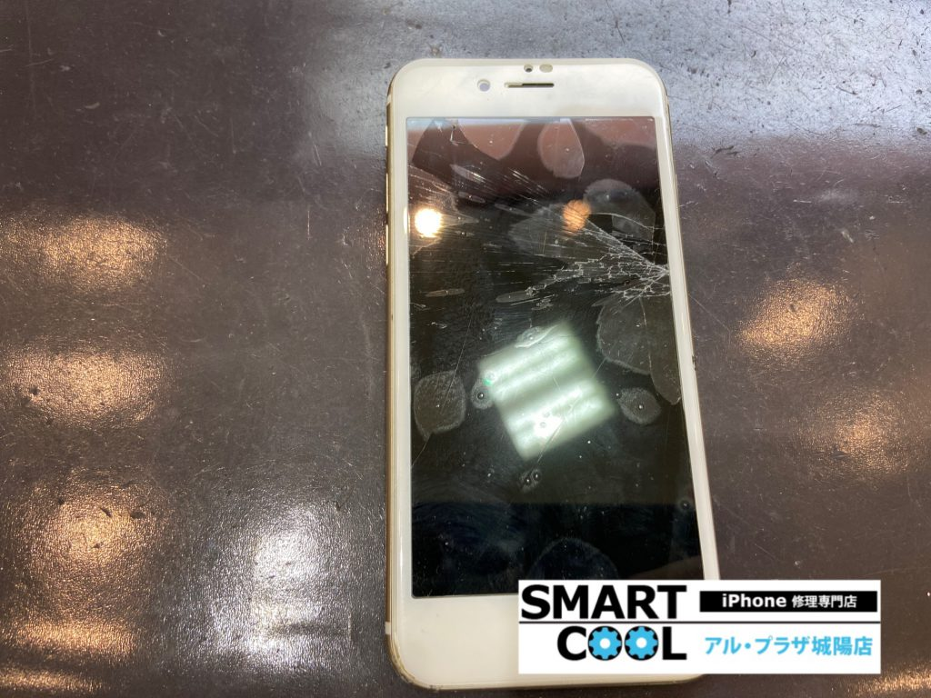 画面が割れて映らなくなったiPhone6s、アイホン6s