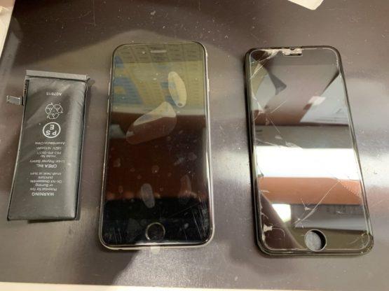 バッテリーと画面交換後のiPhone6s
