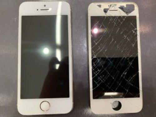 iPhoneの画面割れもバッテリー交換