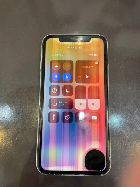 iPhone XR 画面交換 宝塚在住のお客様 t