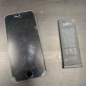 バッテリーを交換したiPhoneSE