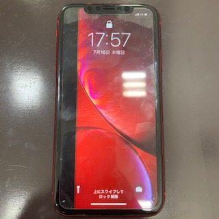 【iPhoneXR】液晶左端に黒い縦線が入ってしまった液晶画面交換/東区からご来店