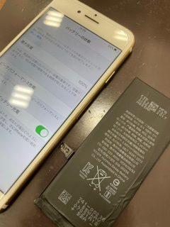 iPhoneもガクブルで体力消耗!?/iPhone7/バッテリー交換
