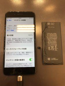 iPhone7pバッテリー交換