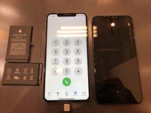 iPhoneXSMax,液晶、バッテリー交換