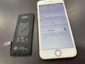 iPhone8plusバッテリー交換