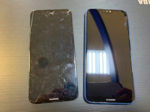 Huaweiスマホガラス割れ修理【岡山県倉敷市連島からのお客様】
