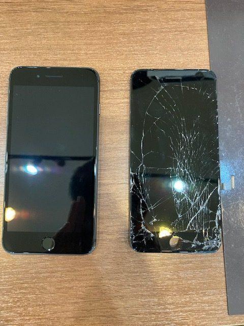 iPhone8Plusの画面交換(赤磐市からのお客様)