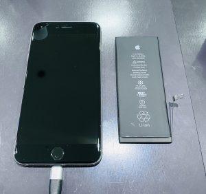 姉妹店修理速報 iPhone6sPlus バッテリー交換 イオンモール岡山店6月1日OPEN!