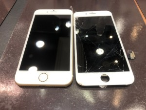 iPhone8画面交換