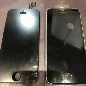 iPhoneSE画面交換 黒
