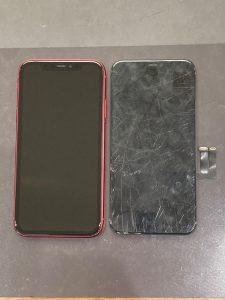 アイフォーン11 液晶漏れ修理後 中間市