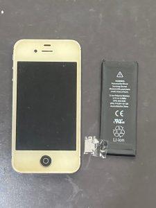 アイホン4s 電池交換【iPhone 4s】 田川郡