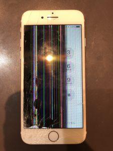液晶損傷による画面修理 iPhone6s/揖斐郡からのご来店 【お問合せ☎0584‐84‐9123】