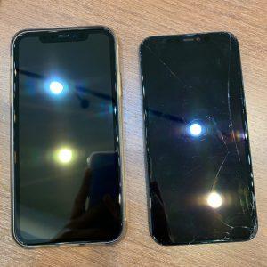 画面交換修理を行ったアイフォンXR