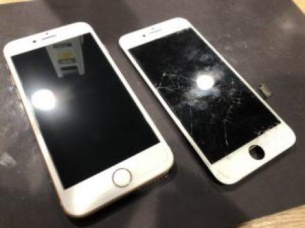 アイフォン8の画面割れ