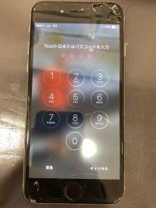 画面バキバキのiPhone6